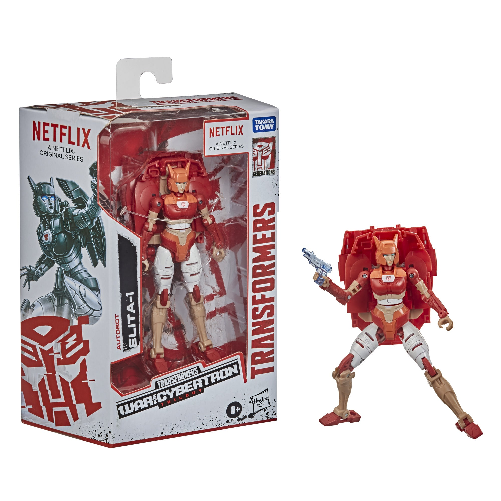 Transformers - War for Cybertron Trilogy Netflix Series - Autobot Elita-1 (F0703) Action Figure