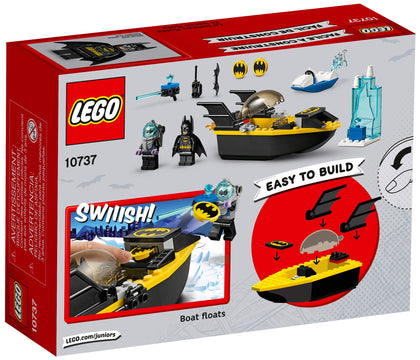 LEGO - Juniors Easy-to-Build - DC Comics Super Heroes - Batman vs. Mr. Freeze, Batboat, Ice Speeder, Jail, 2 Minifigures (10737)