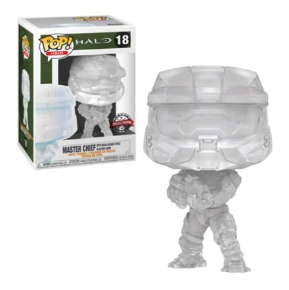Funko Pop! HALO - HALO #18 - Master Chief (with MA40 Assault Rifle in Active Camo) Vinyl Figure Exclusive