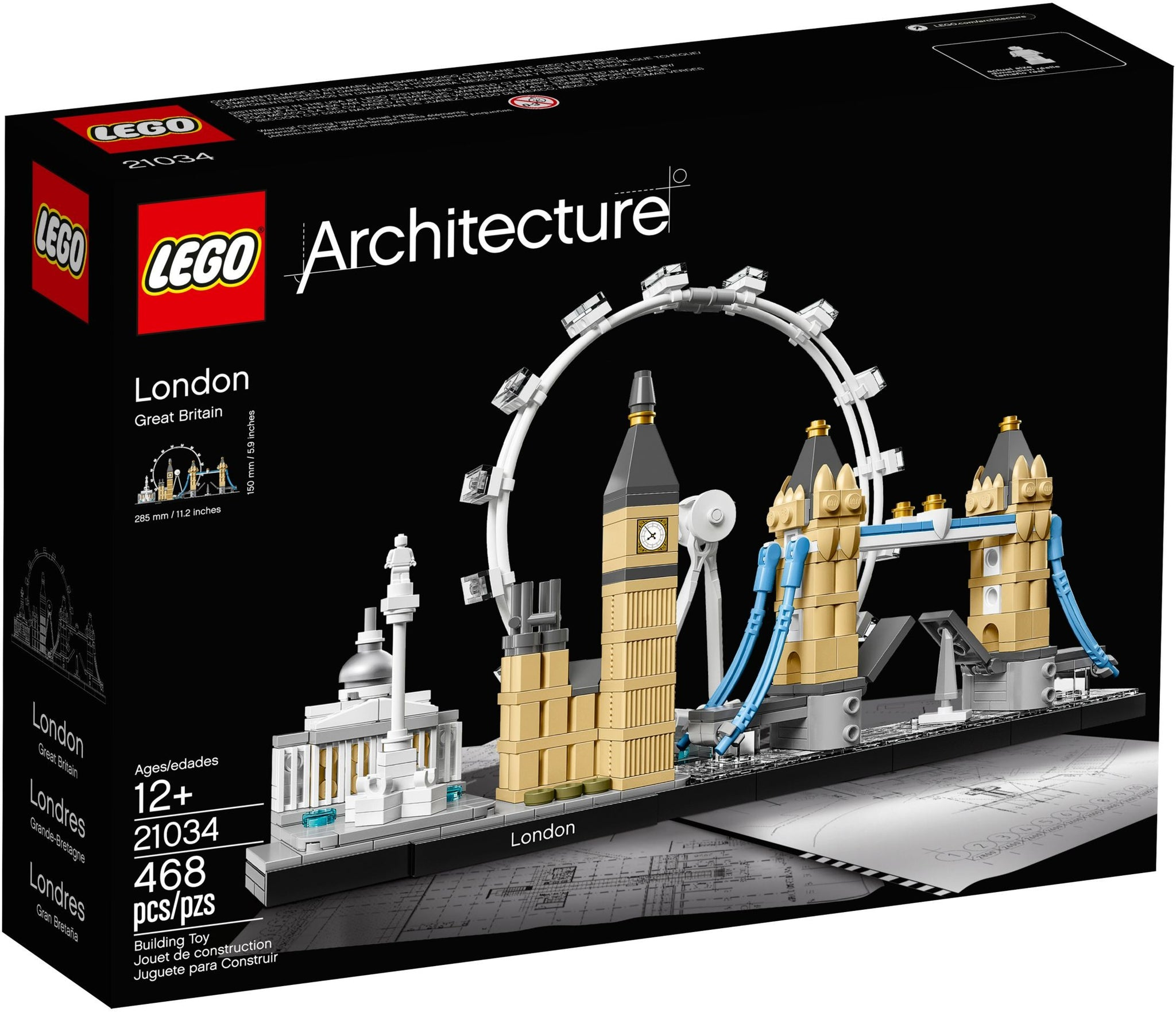 LEGO Architecture Building Set - Skyline Series - London, Great Britain (21034)