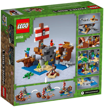 LEGO - Minecraft - The Pirate Ship Adventure, Island, Rowboat, 6 Figures (21152)