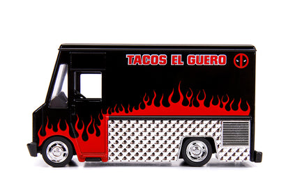 Jada - Hollywood Rides - Metals Die Cast - Marvel - Deadpool - Taco Truck 1:32 Vehicle (30864)