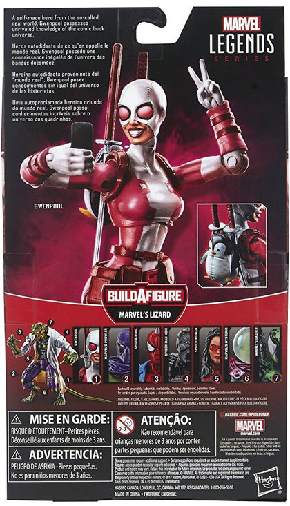 Marvel Legends - Lizard BAF - The Unbelievable Gwenpool 6-inch Action Figure (E1301)