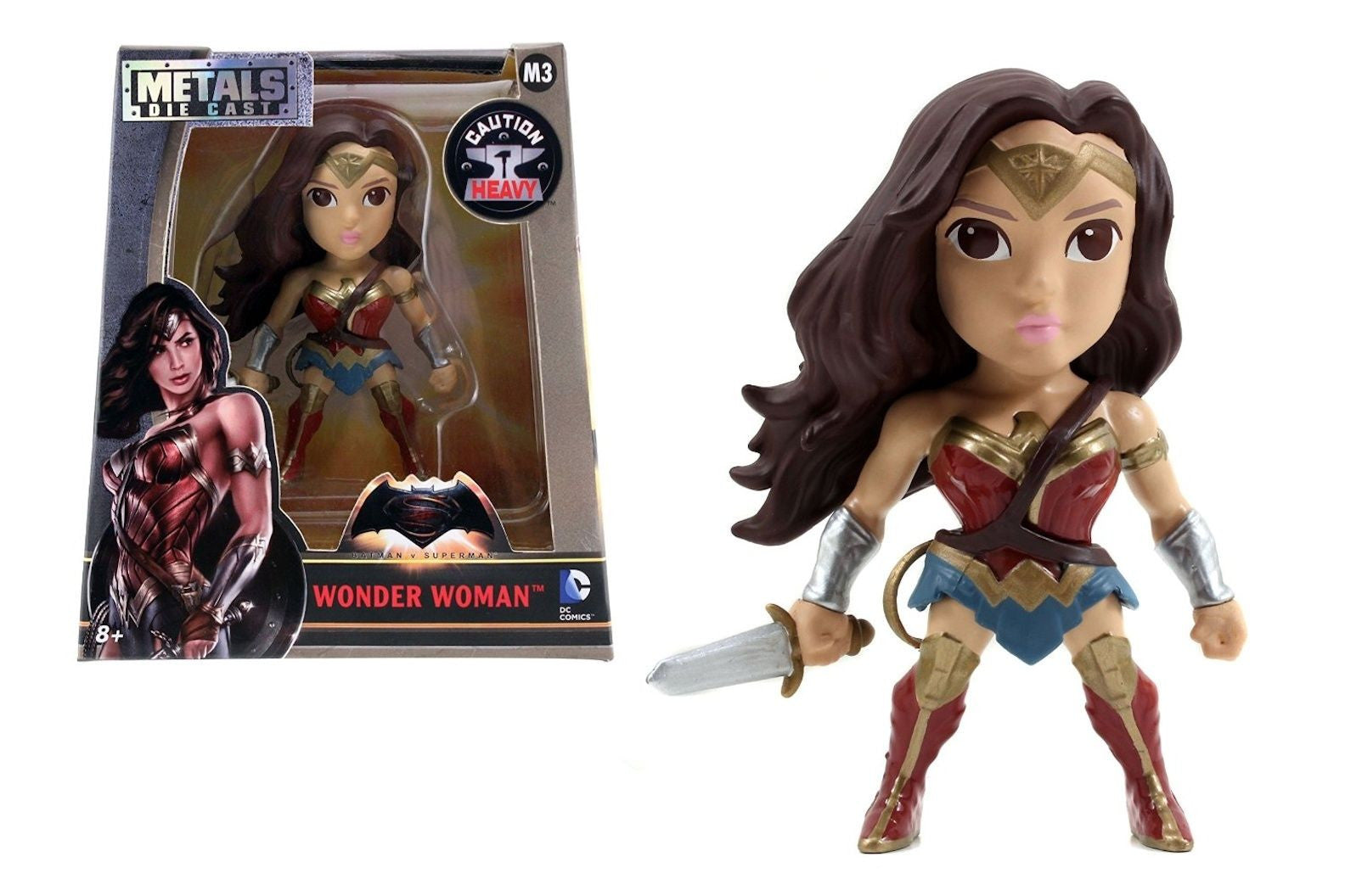 Metals Die Cast - DC - Batman v Superman - Wonder Woman (M3) 4-Inch Metal Figure