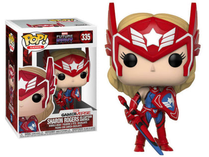Funko Pop! Games - Marvel Gamerverse #335 - Future Fight- Sharon Rogers (As Captain America) Figure