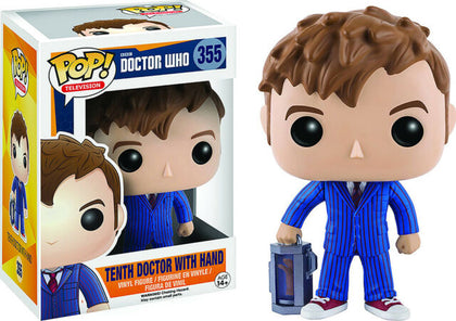 Funko Pop! Television - Doctor Who #355 - Tenth Doctor With Hand Vinyl Figure