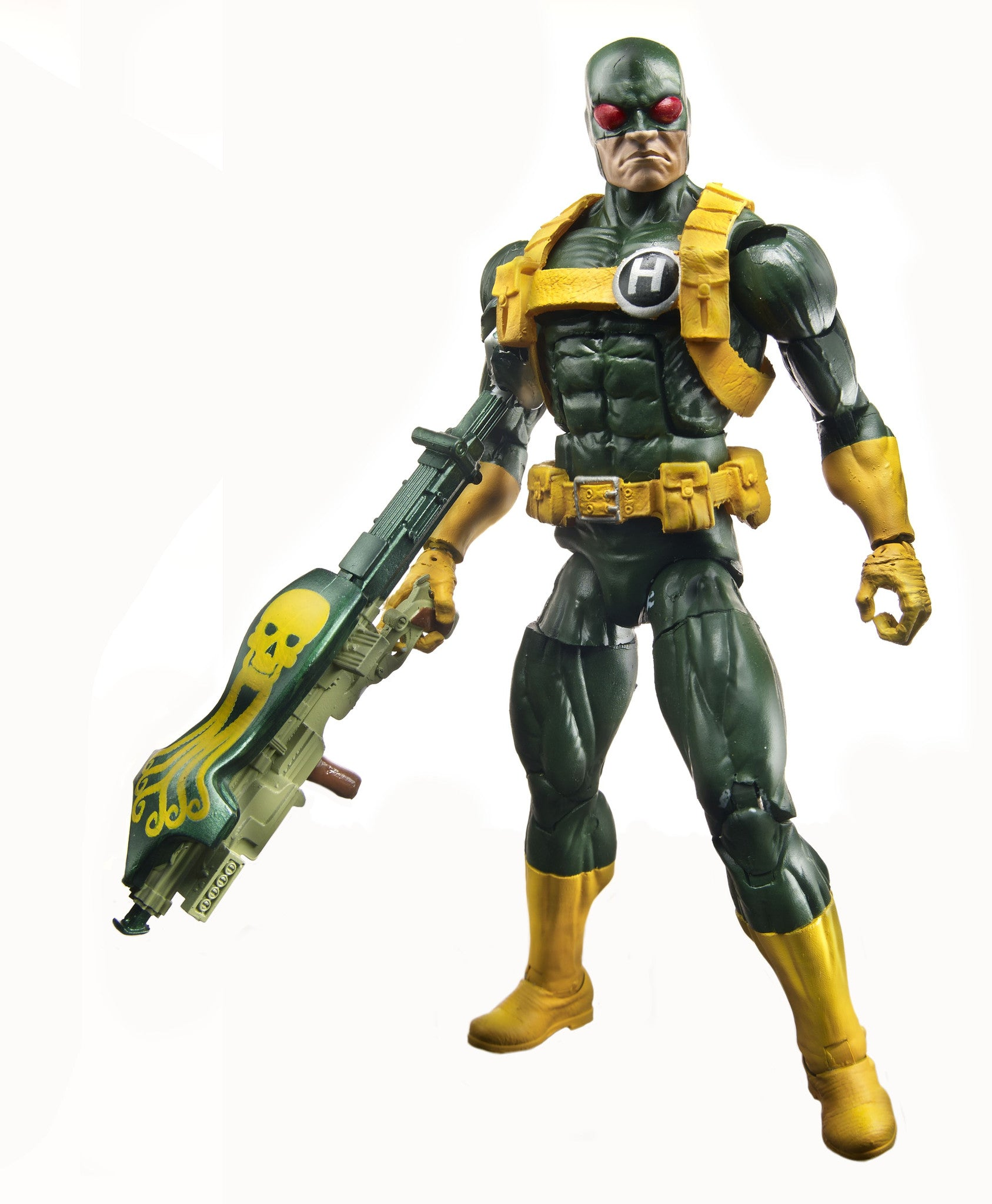 Marvel Legends - Mandroid BAF - Captain America - Agents of Hydra - Modern Green Hydra Soldier (A6223)