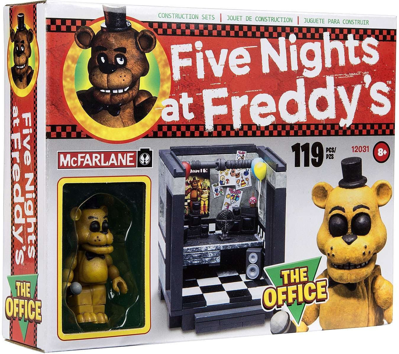 McFarlane Construction Set - Five Nights at Freddy's The Office with Golden Freddy Figure (12031)