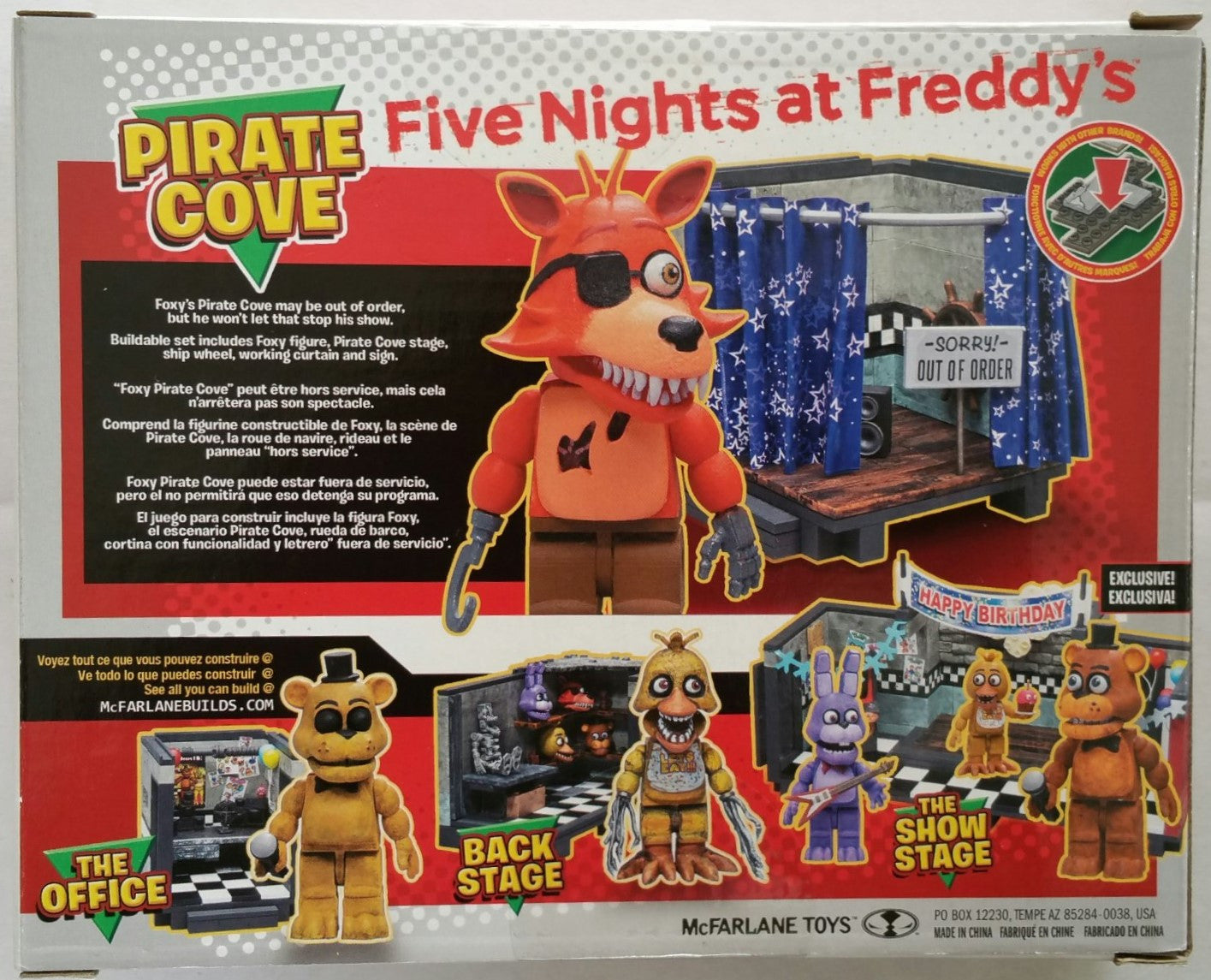 McFarlane Construction Set - Five Nights at Freddy's Pirate Cove with Foxy Figure (12032)