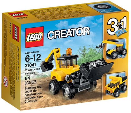 LEGO Creator 3-in-1 - Construction Vehicles (31041) Building Toy RETIRED