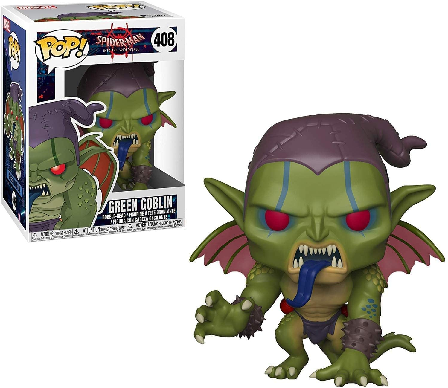 Funko Pop! Marvel - Spider-Man Into the Spiderverse #408 - Green Goblin Vinyl Figure