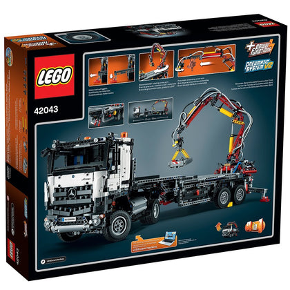 LEGO - Technic - Mercedes-Benz Arocs 3245 / Articulated Construction Truck - 2-in-1 Building Set (42043)