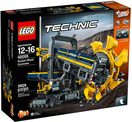 LEGO - Technic - Bucket Wheel Excavator / Mobile Aggregate Processing Plant - 2-in-1 Building Set + Power Functions Motor (42055)