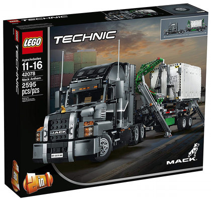 LEGO - Technic - Mack Anthem Semi / LR Truck + Trailer - 2-in-1 Building Set (42078)
