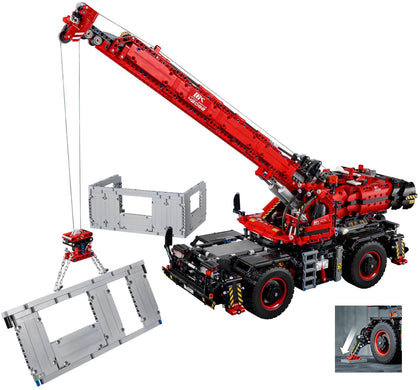 LEGO Technic - Rough Terrain Crane with Power Functions (42082) 2-in-1 Building Toy