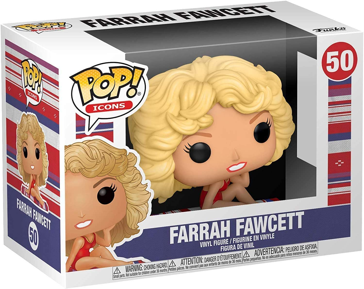 Funko Pop! Icons #50 - Farrah Fawcett Vinyl Figure