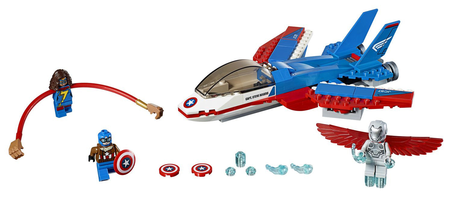 LEGO Super Heroes - Captain America Jet Pursuit (76076)