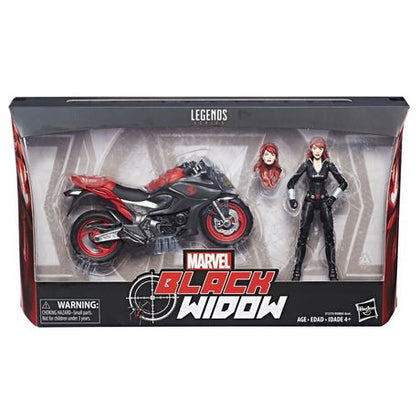 Marvel Legends - Ultimate Riders - Black Widow Action Figure with Motorcycle (E1375)