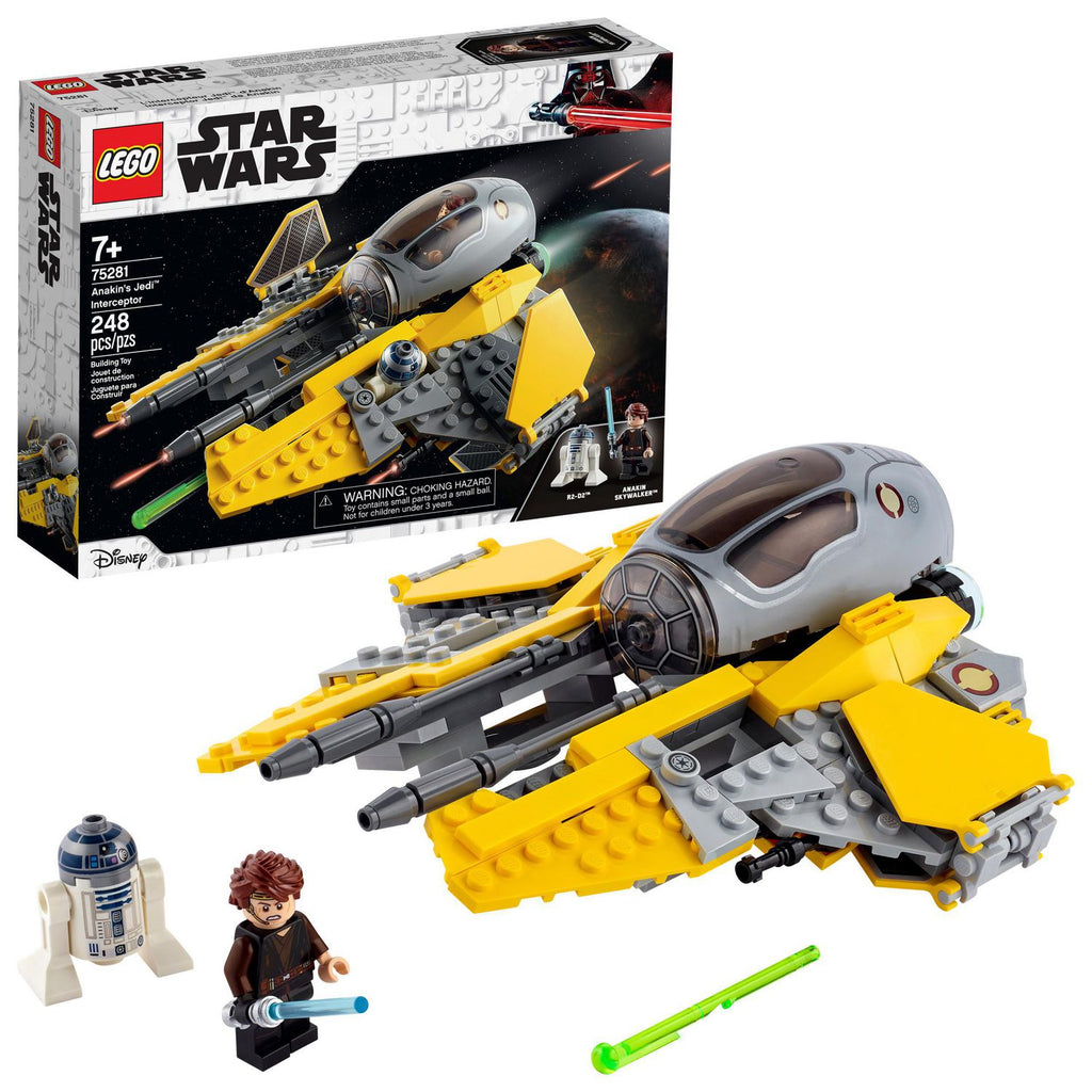 LEGO Star Wars - The Skywalker Saga - Anakin's Jedi Interceptor (75281) Building Toy