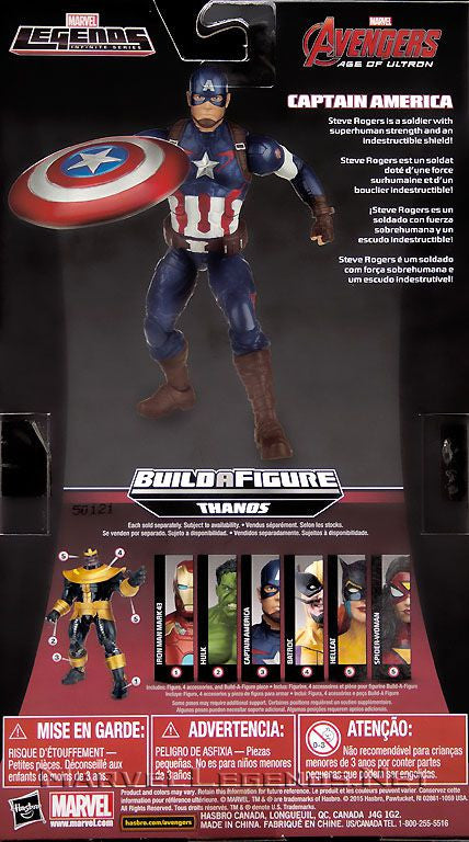 Marvel Legends Infinite - Thanos BAF - Avengers: Age of Ultron - Captain America Action Figure (B2062)