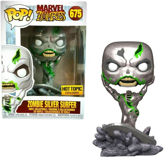 Funko Pop! Marvel #675 - Marvel Zombies - Zombie Silver Surfer Vinyl Figure Exclusive