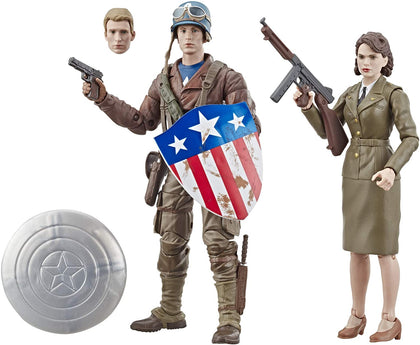 Marvel Legends - Captain America: The First Avenger - Captain America & Peggy Carter (E6342)