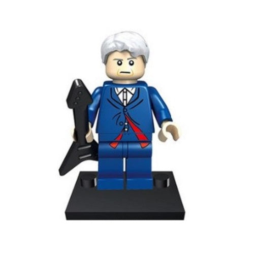 BBC TV - Doctor Who - 12th Doctor (Peter Capaldi + Guitar) Custom Minifigure