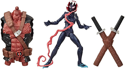 Marvel Legends - Venompool BAF - Spider-Man Maximum Venom - Ghost-Spider Action Figure (E9340)