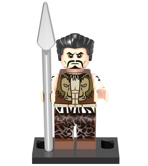 Marvel - Spider-Man - Kraven the Hunter (Cheetah Pants & Silver Spear) Custom Minifigure