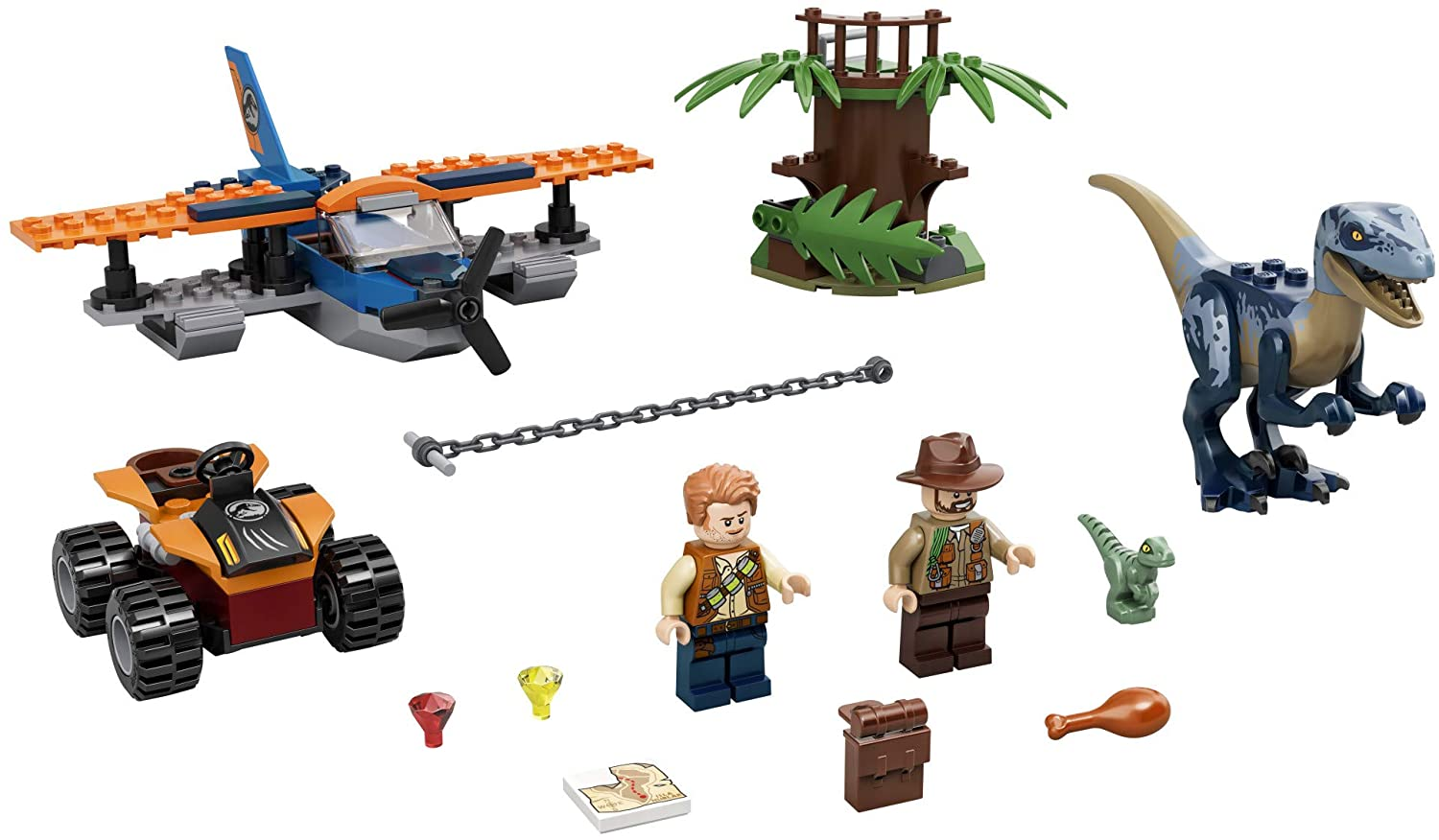 LEGO Jurassic World - Velociraptor: Biplane Rescue Mission (75942) Building Toy