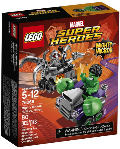 LEGO Marvel Super Heroes - Mighty Micros - Hulk vs. Ultron (76066) Retired Rare Building Toy