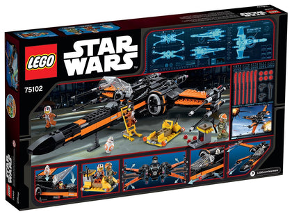 LEGO - Star Wars: The Force Awakens - Poe's T-70 X-Wing Fighter + Loader + 4 Minifigures (75102)