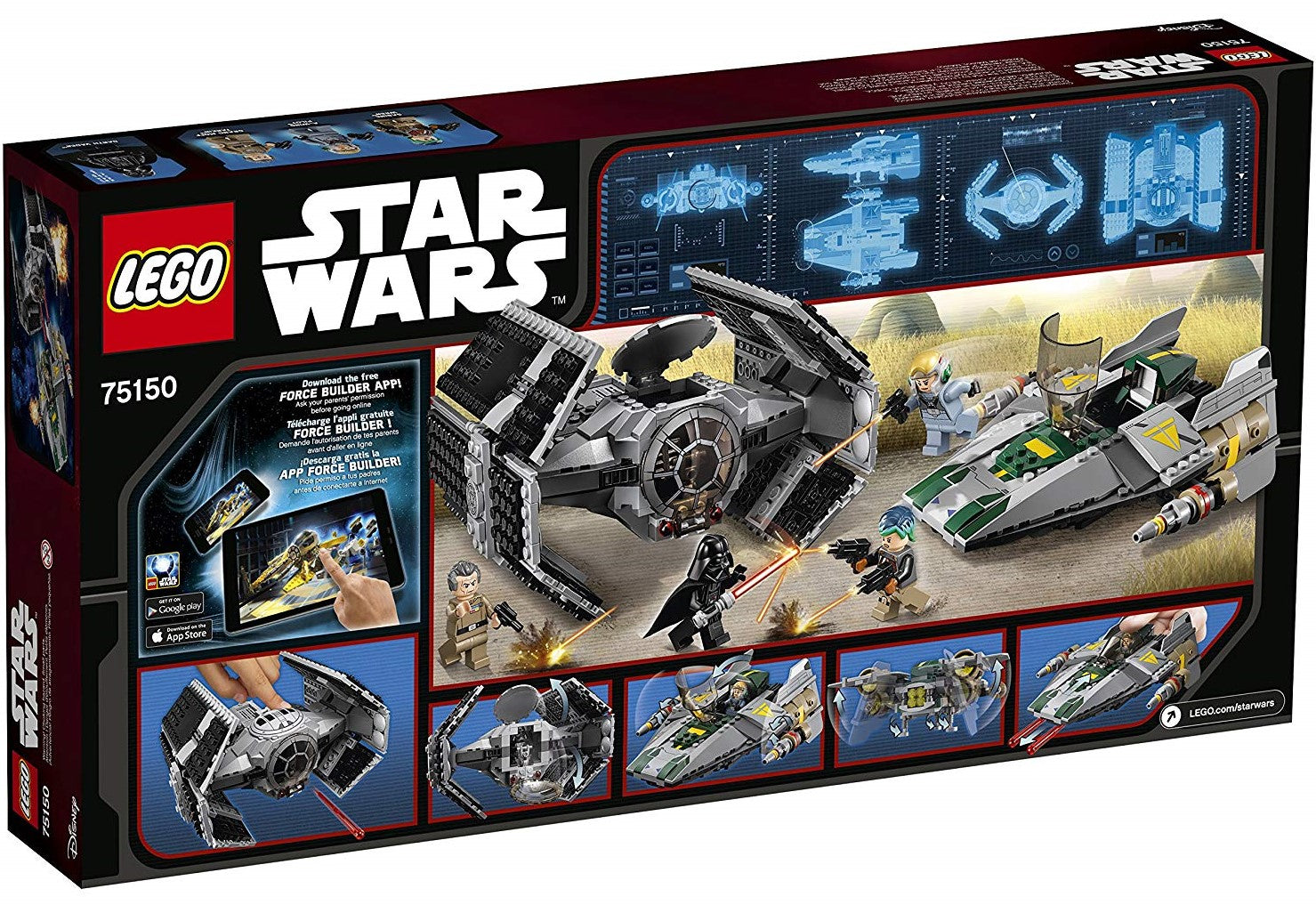 LEGO - Star Wars: Rebels - Vader's TIE Advanced vs. A-Wing Starfighter (75150)