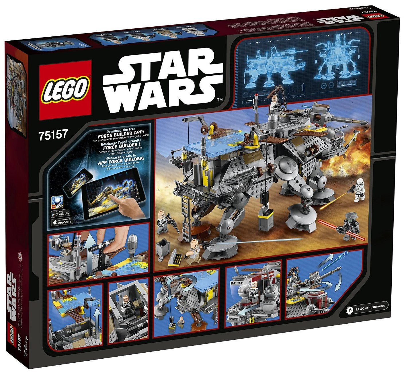 LEGO - Star Wars: Rebels - Captain Rex's AT-TE Walker + 5 Minifigures (75157)