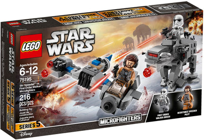 LEGO Star Wars The Last Jedi 75195 Ski Speeder vs. First Order Walker Microfighters (2-Pack Set)