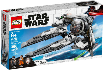 LEGO - Star Wars Resistance - Black Ace TIE Interceptor Starship Set + 3 Minifigures (75242)
