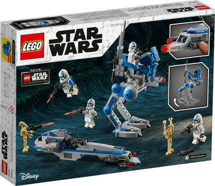 LEGO - Star Wars - Clone Wars - 501st Legion Clone Troopers, AT-RT Walker, BARC Speeder, Battle Droids (75280)