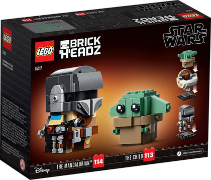 LEGO - BrickHeadz - Star Wars - The Mandalorian and the Child with Hoverpram (75317)