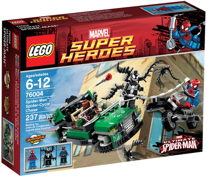 LEGO - Marvel Super Heroes - Ultimate Spider-Man: Spider-Cycle Chase + S.H.I.E.L.D. Flying Car + 3 Minifigures (76004)