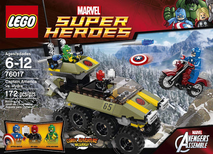 LEGO - Marvel Super Heroes - Avengers Assemble - Captain America vs. Hydra: Vehicle + Motorcycle + 3 Minifigures (76017)