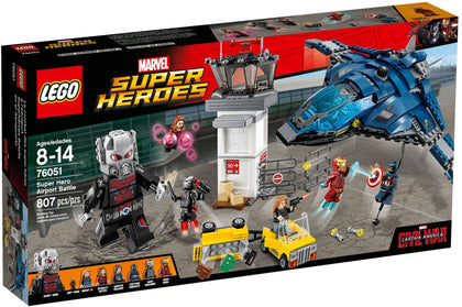 LEGO - Marvel Super Heroes - Super Hero Airport Battle: Quinjet + Tower + Cart + Giant Man - 8 Figures (76051)