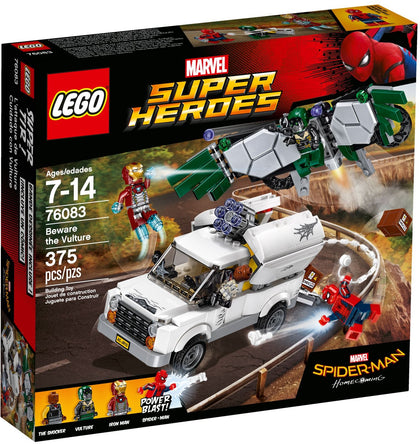 LEGO - Marvel Super Heroes - Spider-Man Homecoming - Beware the Vulture: Van + Wings + Rifle + 4 Minifigures (76083)