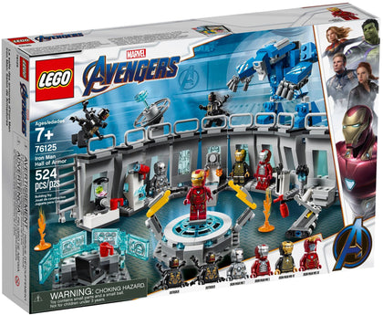 LEGO - Marvel Super Heroes - Avengers: Endgame - Iron Man Hall of Armor, Igor Suit, 6 Minifigures (76125)