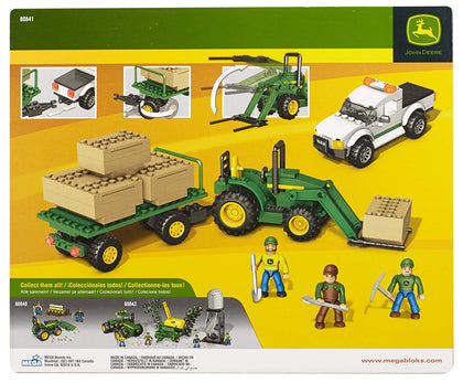 Mega Bloks - World Builders - John Deere Bale Transport Unit Tractor + Truck + Trailer (80841)