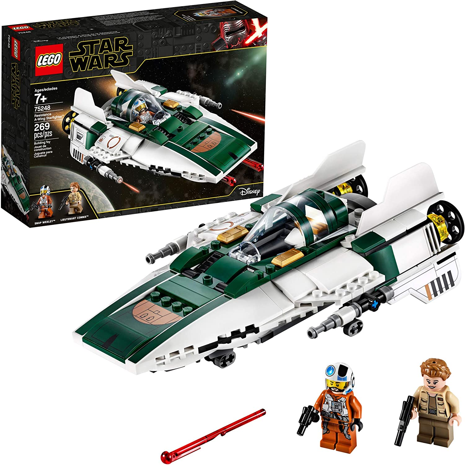 LEGO  Star Wars - The Rise of Skywalker - Resistance A-Wing Starfighter (75248) Building Toy