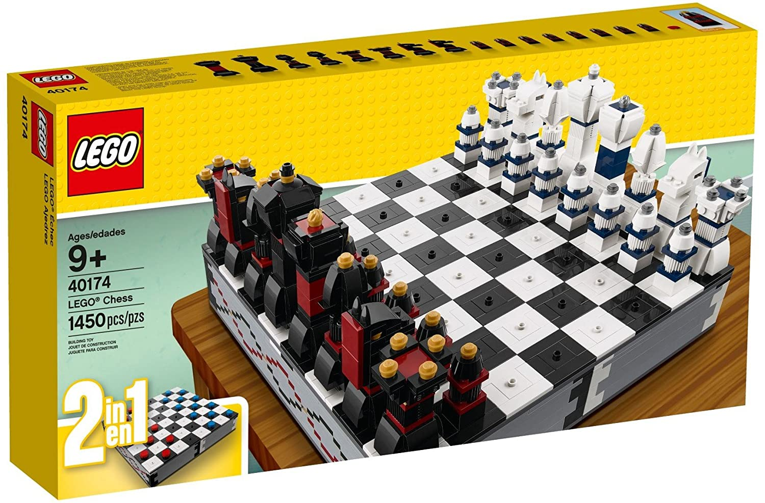 LEGO - Iconic Chess Set / Checkers (40174) 2 in 1 Building Toy