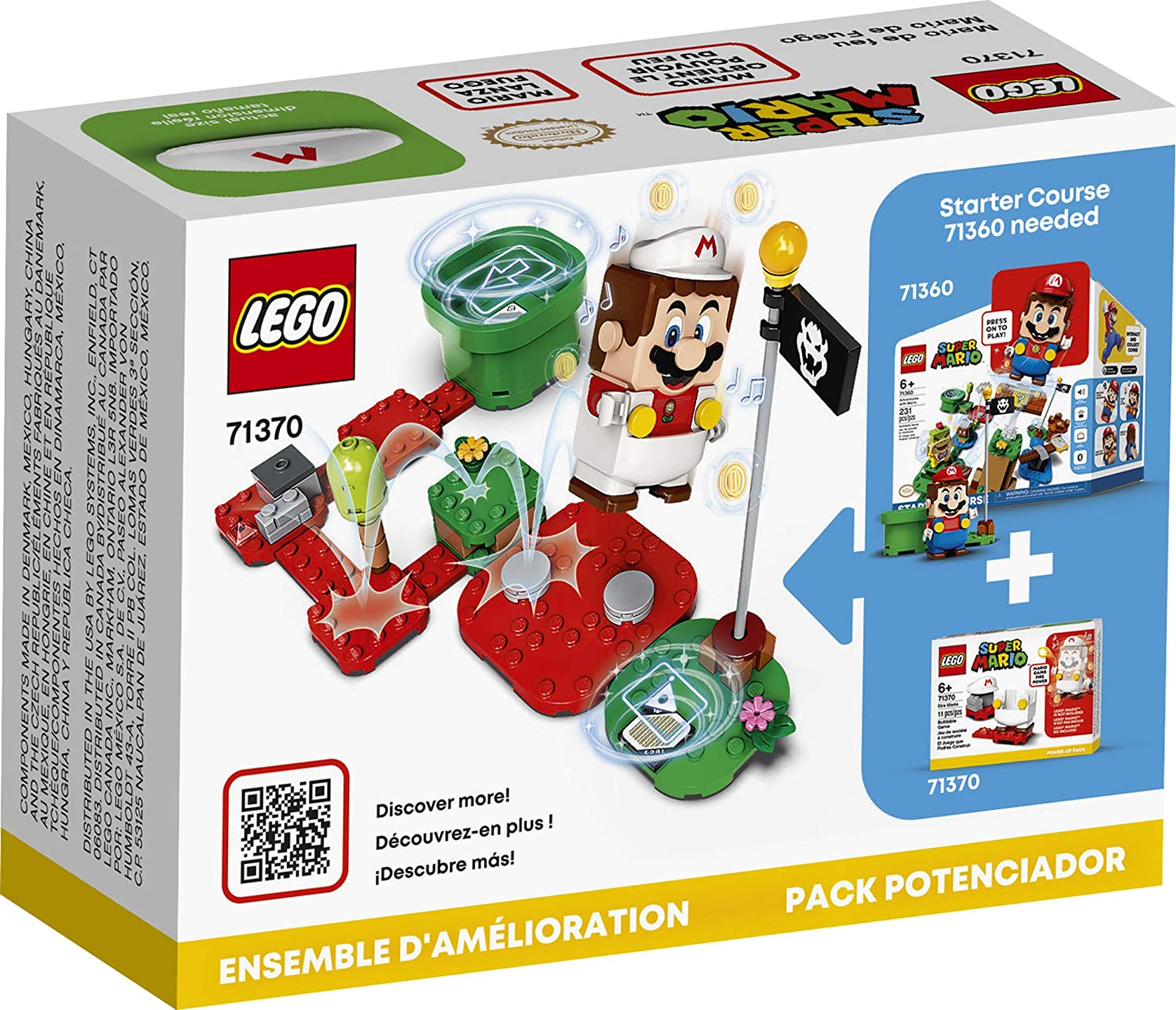 LEGO Super Mario - Fire Mario Power-Up Pack (71370) Buildable Game
