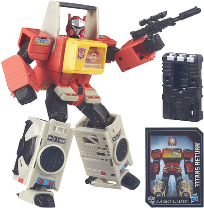 Transformers Generations - Titans Return - Autobot Blaster (B5613) Action Figures