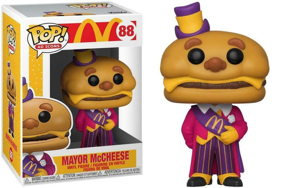 Funko Pop! Ad Icons #88 - McDonalds - Mayor McCheese Vinyl Figure