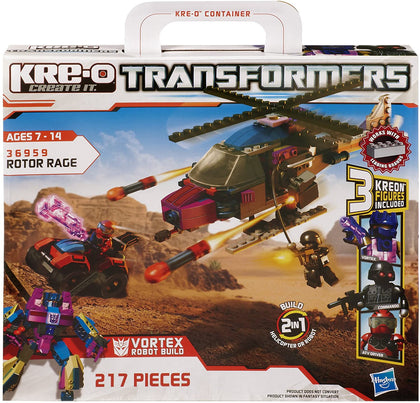 KRE-O Transformers - Rotor Rage - Vortex Robot Build (36959) Building Toy